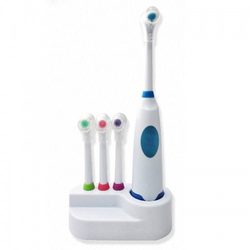 Toothbrush Waterproof Soft Bristle Toothbrush Battery Operated With Rotating Teeth Brush Heads Oral Care