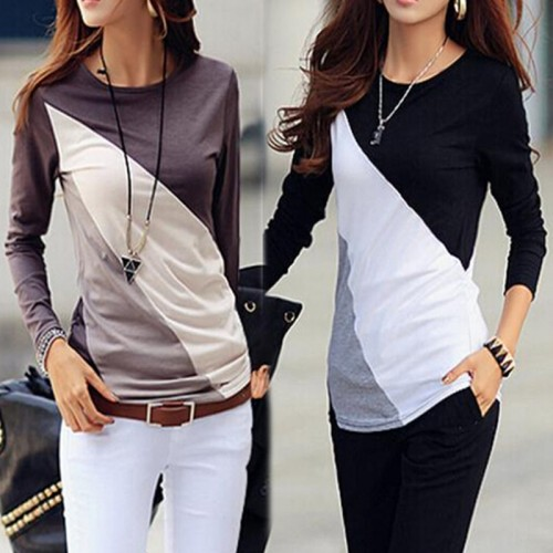 Cotton Top Casual O Neck Long Sleeve Blouse