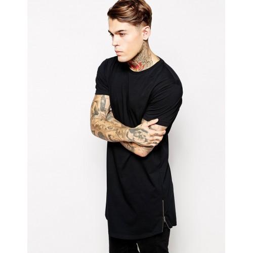 O-neck Hip Hop Short Sleeve longline t-shirt