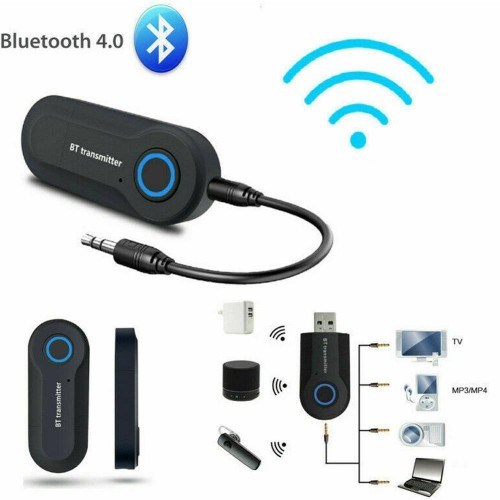Car Wireless Bluetooth 4.1 Receiver Adapter 3.5mm Jack Audio Transmitter Handsfree Call Phone Aux Music Receiver TV MP3