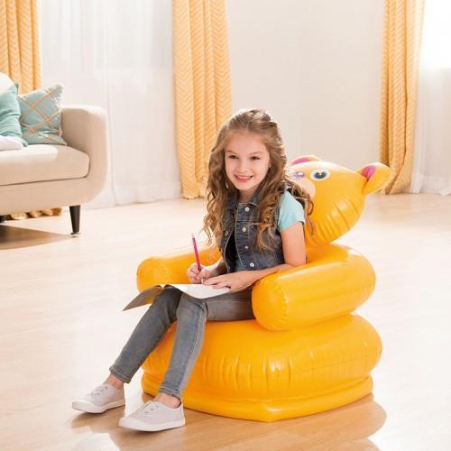 Cartoon Animal-Shaped Inflatable Seat Kid Sofa
