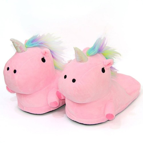 Cartoon Women Slippers Cute Unicorn Shoes Warm Indoor Bedroom Unicornio Shoes