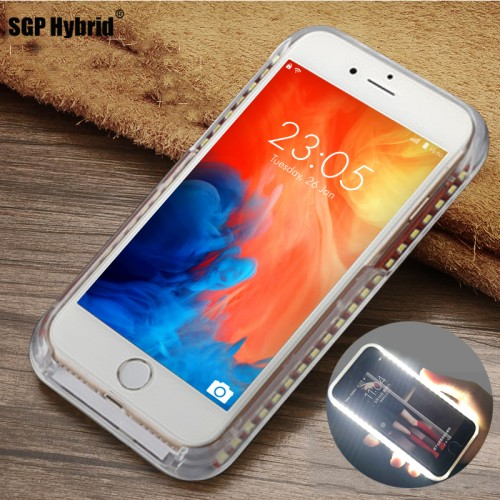 Flash Selfie Light Up Glowing Luxury Phone Case For iPhone
