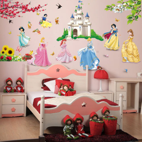 Castle Princess Wall Decal Sticker Vinyl Mural Home Art Kids Girls Room Decor