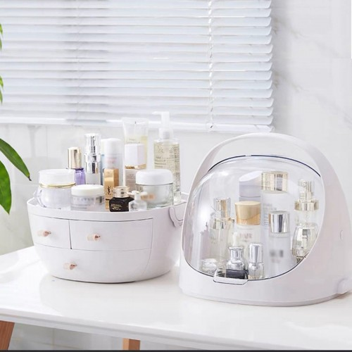 Women Bathroom Cosmetics Storage Box Waterproof and Dust proof Large Makeup Organizer