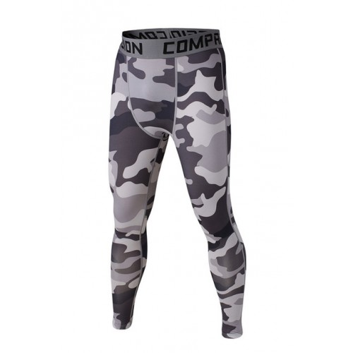 Mens Compression Pants Army Camouflage Joggers Leggings Tights Fitness Fashion
