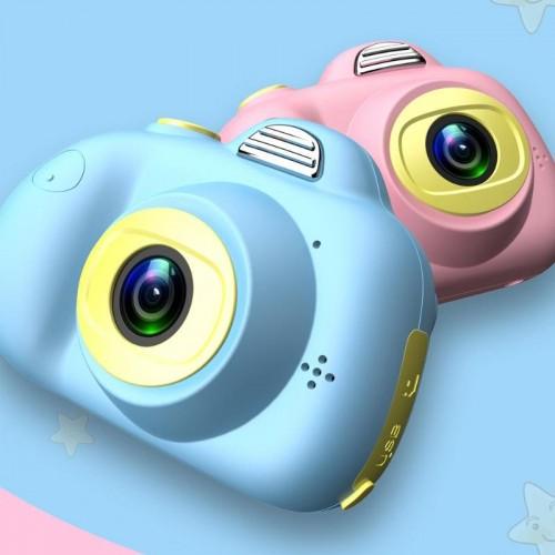 D6 Children Mini HD Camera Toys Dual Lens Digital Photo Camera For Kids Automatic Lock Positioning