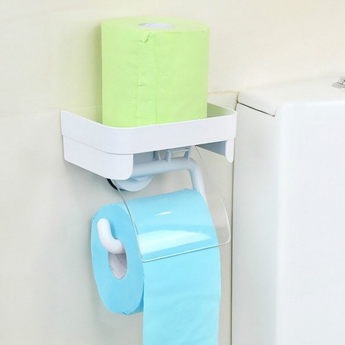 Bathroom Paper Phone Holder With Shelf  Mobile Rack Multi-Function Toilet Paper Holder