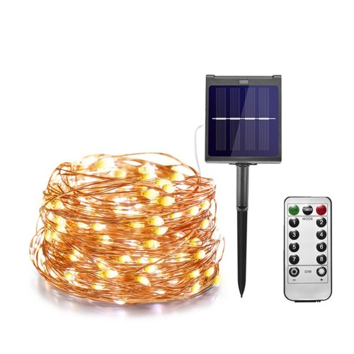 21M LED Outdoor Solar String Lights Fairy Holiday Party Solar Garden Waterproof Lights