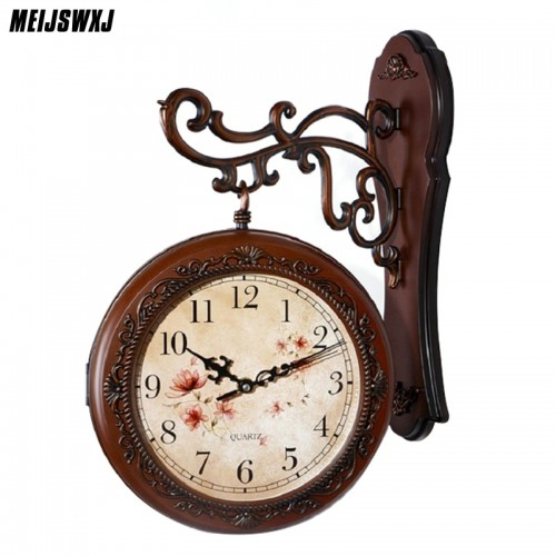 Double Sided Saat Vintage Digital  Wall Clocks