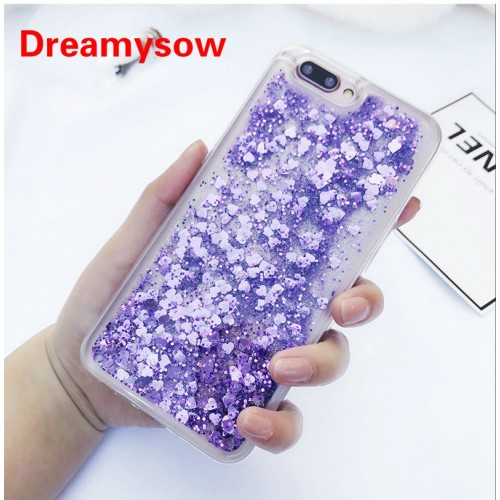 Dynamic Liquid Glitter Quicksand Soft TPU Back Cover For Huawei OPPO