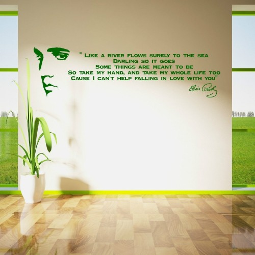 ELVIS PRESLEY SONG LYRICS LIKE A RIVER Vinyl Wall Sticker