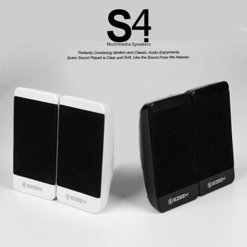 EZEEY S4 USB 3.5mm Speaker for Desktop Laptop Notebook Tablet FM Radio SmartPhones PC
