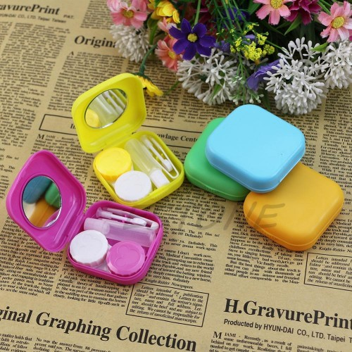 Easy Carry 1PCS Travel Glasses Contact Lenses Box Contact lens Case for Eyes Care Kit Holder Container Gift