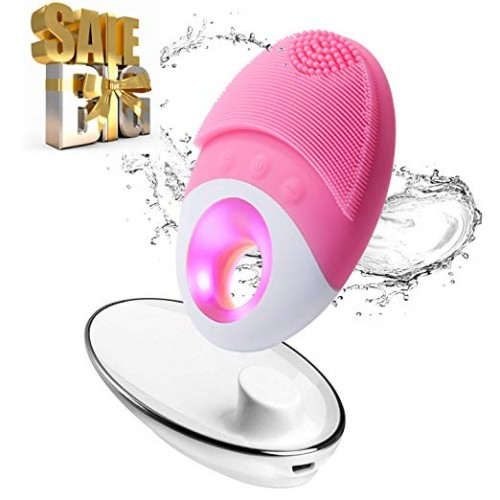 Electric Facial Cleansing Brush Wireless No Dead Corner Pore Wrinkle Silicone Brush