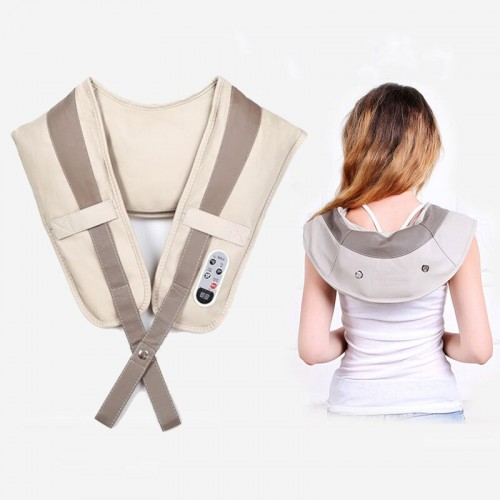 Electric Shoulder Shawl Massager Neck Waist Back Vibration Massage Cervical  Pain Relief Massager