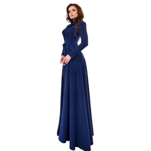 Chiffon Long Sleeve Slim Fit Long Maxi Gown Dress