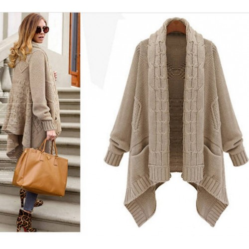 Cardigan and long sections irregular sweater