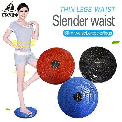 FDBRO Twister Plate Exercise Gear Plastic Waist Twist Disc Yoga Board Body Building Fitness  Foot Massage Plate