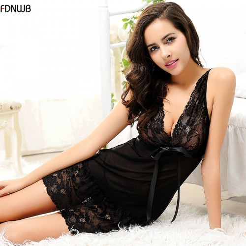 lace Slim Casual Nightgowns