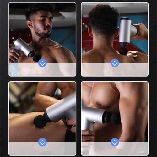 Fascial Gun Muscle Massaging Relax Recovery Soreness Pain Relief Massager 4 Heads