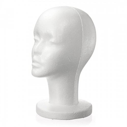 Fashion Female White Foam Styrofoam Mannequin Hat Cap Dummy Wig Head Display Holder Model