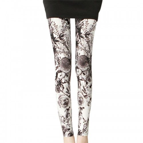Women Casual Creative Oil Printing Shape  Legging