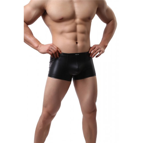 Stretch Slim Faux Leather Boxers