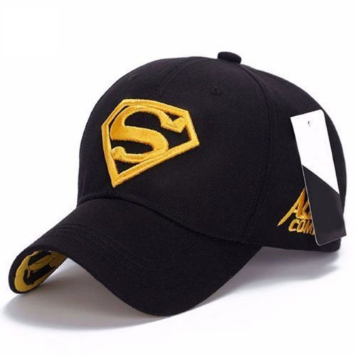 Fashion Men Women Outdoor Snapback Unisex Adjustable Fit Baseball Cap Superman Hip-hop Stretch Hat
