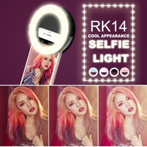 Fashion Rechargeable Selfie Ring Light  Clip LED selfie flash light adjustable lamp selife  for Smart phones