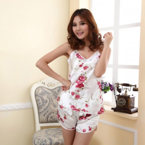 2 Piece Sleepwear Set Blouse Shirt + Shorts
