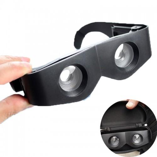 Portable Glasses Style Telescope 400 Magnifier Binoculars
