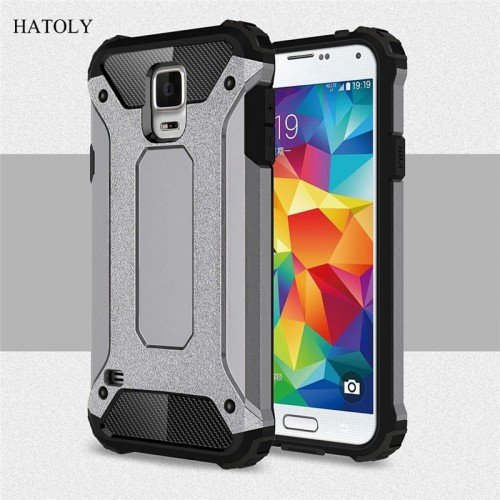Samsung Galaxy S5 Case Anti-knock Rugged Armor Cover Silicone Phone Bumper Case