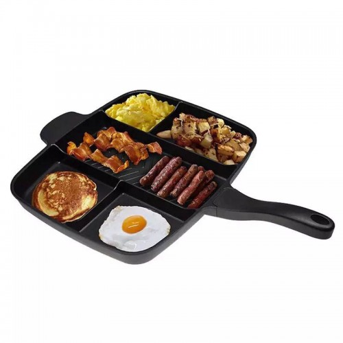 Five In One Multifunction Frying Pan Aluminum Non Stick Striped Beef Grill Baking Pan