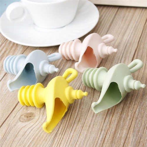 Funny Spiral Style Silicone Stopper Leakproof Dust Cover Sealed Bottle Stoppers Cork