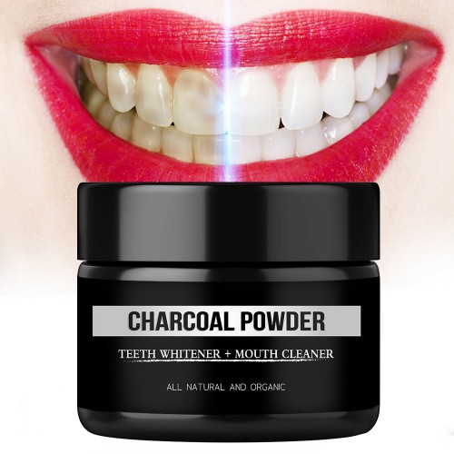 GENKENT Teeth Whitening Scaling Tooth Whitener Cleaning Premium Activated Organic Charcoal Powder