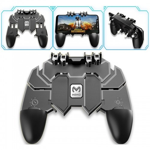 Gamepad Controller Six Fingers All In One PUBG Mobile Joystick Game Shooter Trigger High Quality