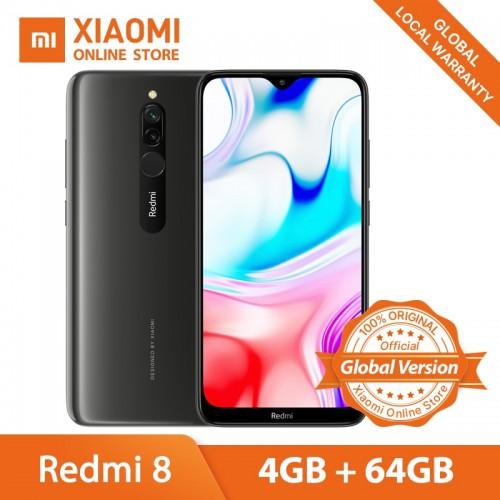 """Xiaomi Redmi 8 4GB 64GB Snapdragon 439 Octa Core 5000mAh 6.22"""" Smartphone 18W Quick Charge"""