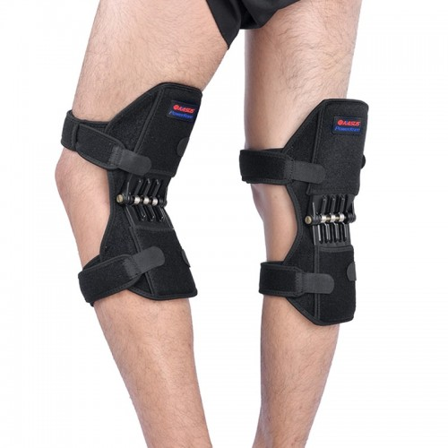 1 Pair Patella Booster Spring Knee Brace Support For Mountaineering Squat Sports