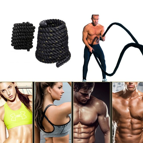 Heavy Undulation Battle Workout Training Rope Bodybuilding Sport Fitness Equipment Slimming Fat Burning