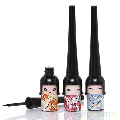 High Quality Black Waterproof Cute Doll Eyeliner Liquid Pen Makeup Cosmetic Eye Liner