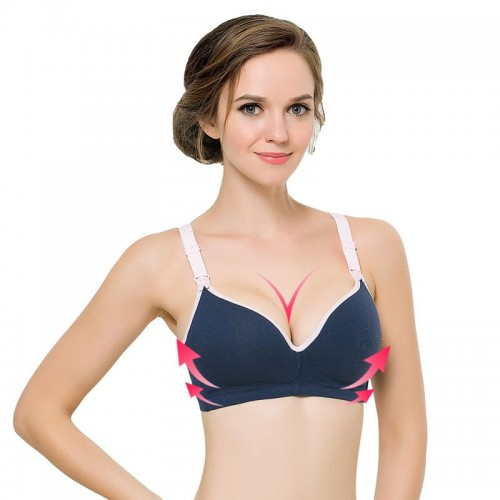 Cotton Cozy Wireless Push Up Bra