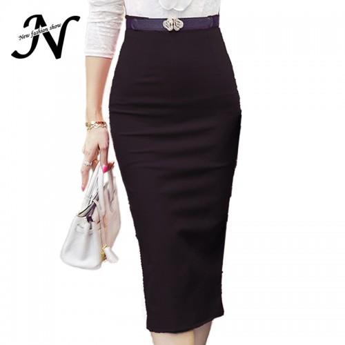 High Waist Bodycon Midi Skirt