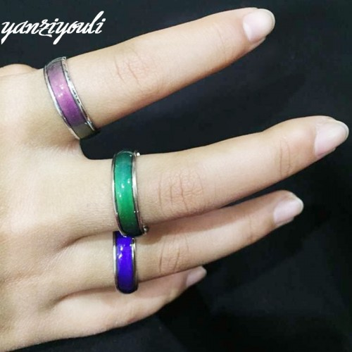 Color Changeable Ring Temperature Emotion Feeling Mood Rings for Women Mens Jewellery Couple Ring