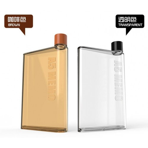 Portable A5 MEMO Notebook Flagon Water Bottle Unbreakable Shatterproof Plastic Pot High Quality