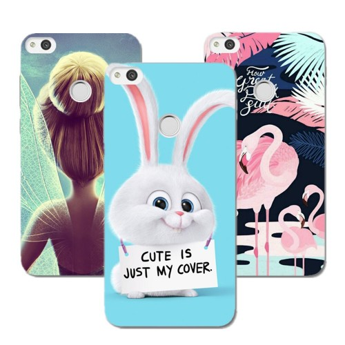 Case 5.2 inch Cute Cartoon Painted Soft TPU Phone Case Silicone For Huawei Honor 8 Lite Nova Lite, Huawei P8 Lite 2017