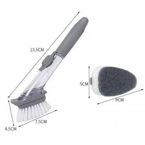 Handheld Cleaning Brush Kitchen Washing Tool With Sponge