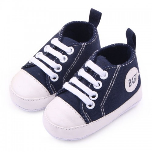 Canvas Sneakers Kids Baby Boy Girl Soft Sole Crib Shoes First Walkers Toddlers