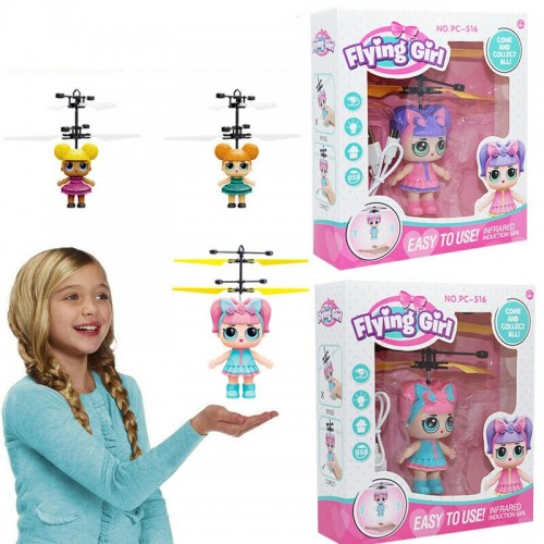 Magical Princess Girl Cute Dolls RC Helicopter Flying Quadcopter Drone Toys