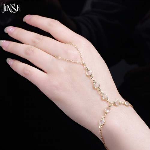 Fashion Simple Chain Slave Crystal Bracelet  Pulseira Ouro Slave Bracelet Bangles Created Crystal Beaded For Women